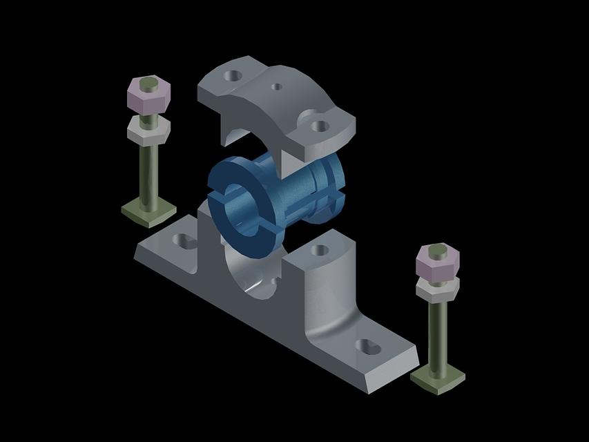 Plummer Block | 3D CAD Model Library | GrabCAD