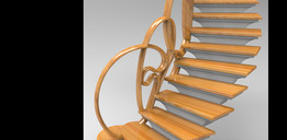 Intricate staircase