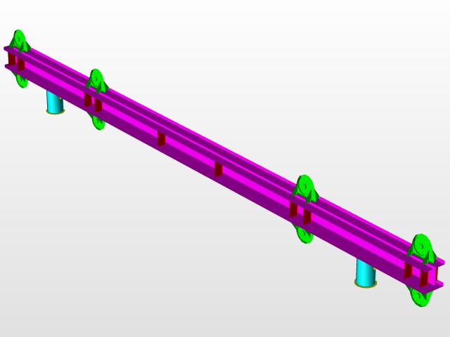 100T 12m Spreader beam   3D CAD Model Library   GrabCAD