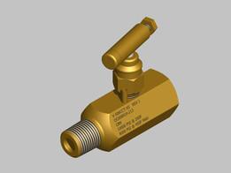 "1/2"" NPT, needle valve, male - female"