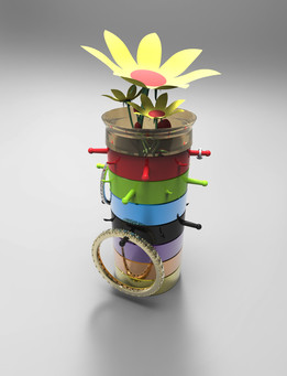 StaX Accessory - Jewelry stand & flower vase