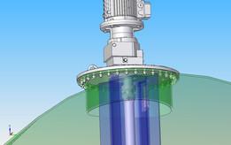 Horizontal oil storage tank mixer
