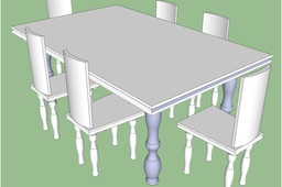 3D Table and Chairs