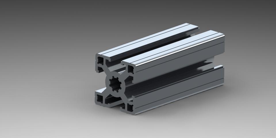 Aluminium profile | 3D CAD Model Library | GrabCAD