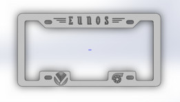 Eunos Licesnse Plate Cover