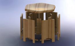 Oak chair with secret compartment.