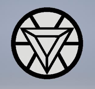 Iron Man Logo | 3D CAD Model Library | GrabCAD