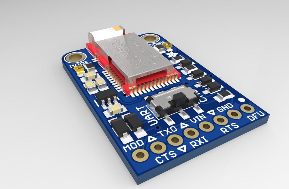 Adafruit Bluefruit LE UART Friend - Bluetooth Low Energy (BLE) | 3D
