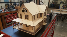 model house for laser cutting