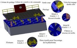 Study and design of a removable floating platform dock of La Goulette.