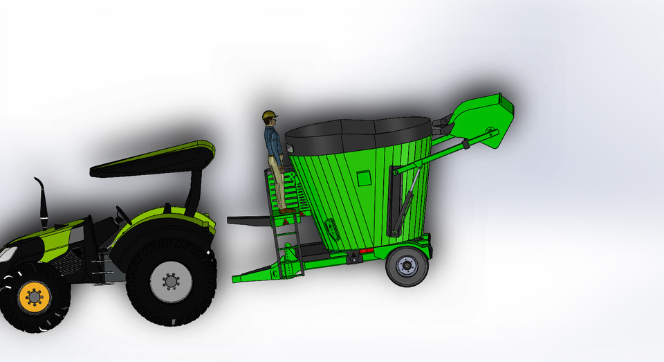 6+1 feed mixer wagon | 3D CAD Model Library | GrabCAD