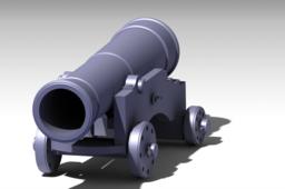 Ship Cannon, Made in Catia V5