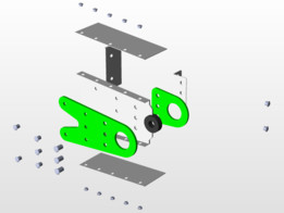 Hinge Plate Horizontal Stabilizer C208B