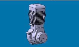 Jawa 884 Speedway engine
