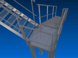 Escalier d'atelier