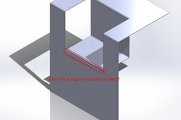 How to make a step bending / partially bend in solidworks? Q:A