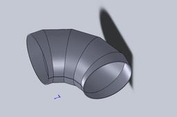 90 degree sheetmetal elbow