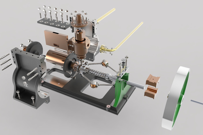 Rotary Steam Engine Step Iges Solidworks 3d Cad