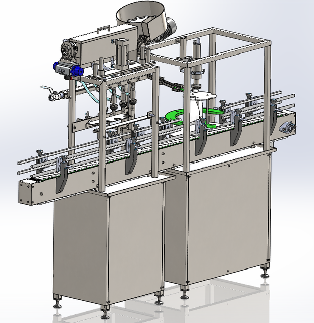 Automatic line of PET bottle filling and capping machine