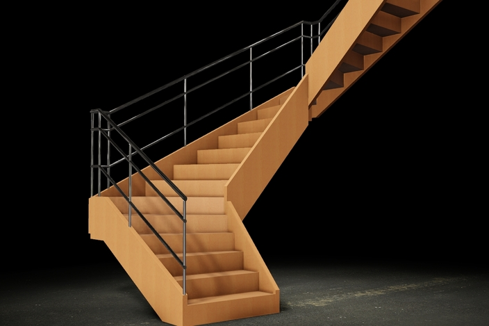 U shaped stair u trap met verdreven treden autocad for Verdreven trap