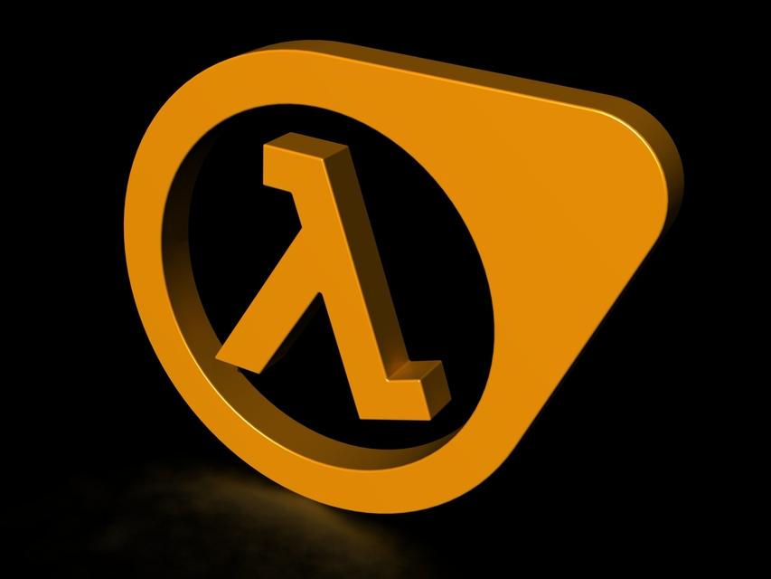 Half Life Game Logo 3d Cad Model Library Grabcad