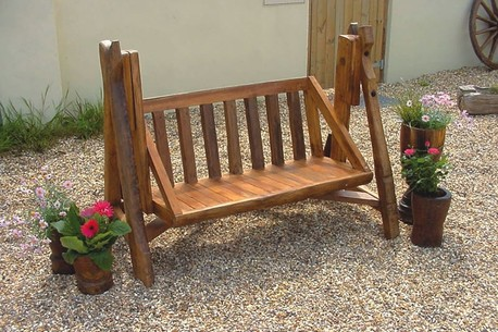 Low Profile Outdoor Bench Glider And/or Swing