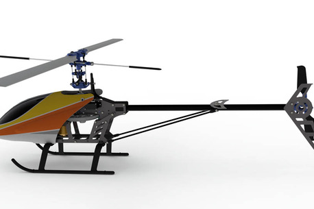 complete design of a rc helicopter