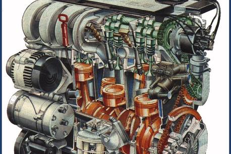 Volkswagen VR6 engine and transmission